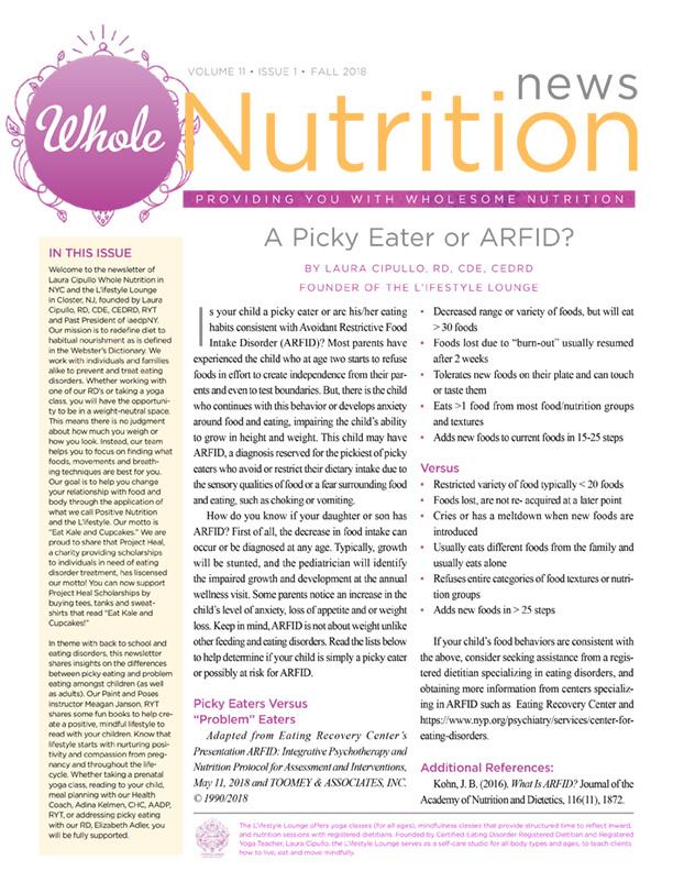 Whole Nutrition Newsletter • Laura Cipullo Laura Cipullo